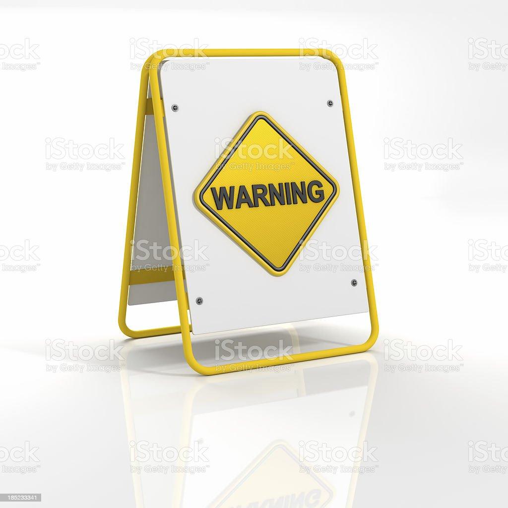 Warning Sing royalty-free stock photo