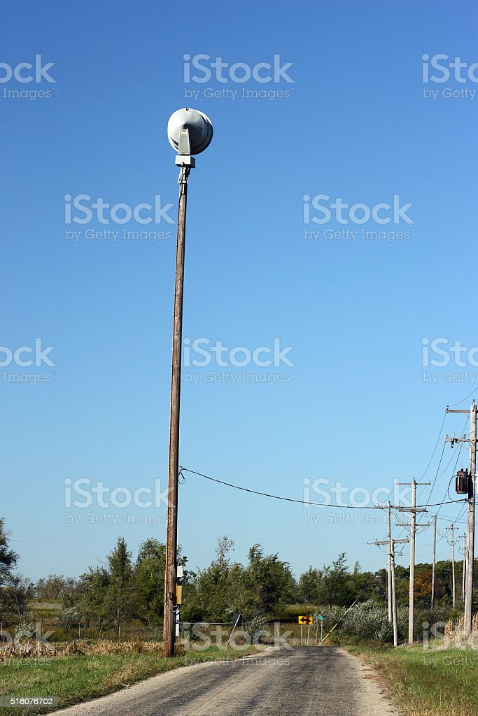 Warning siren stock photo