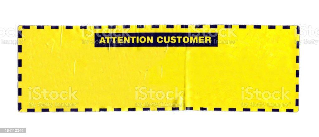 Warning Sticker royalty-free stock photo