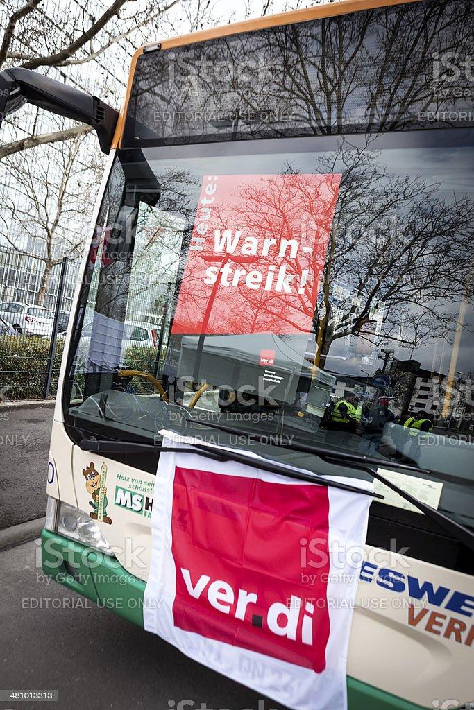 Warning strike of german trade union verdi, Wiesbaden stock photo