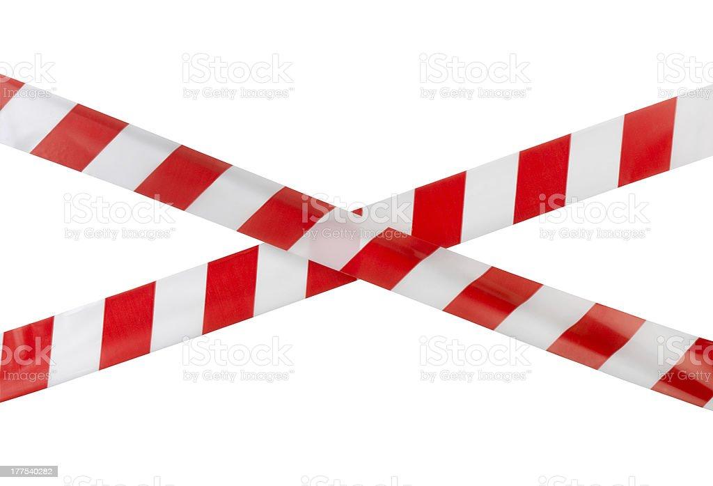 Warning tape stock photo