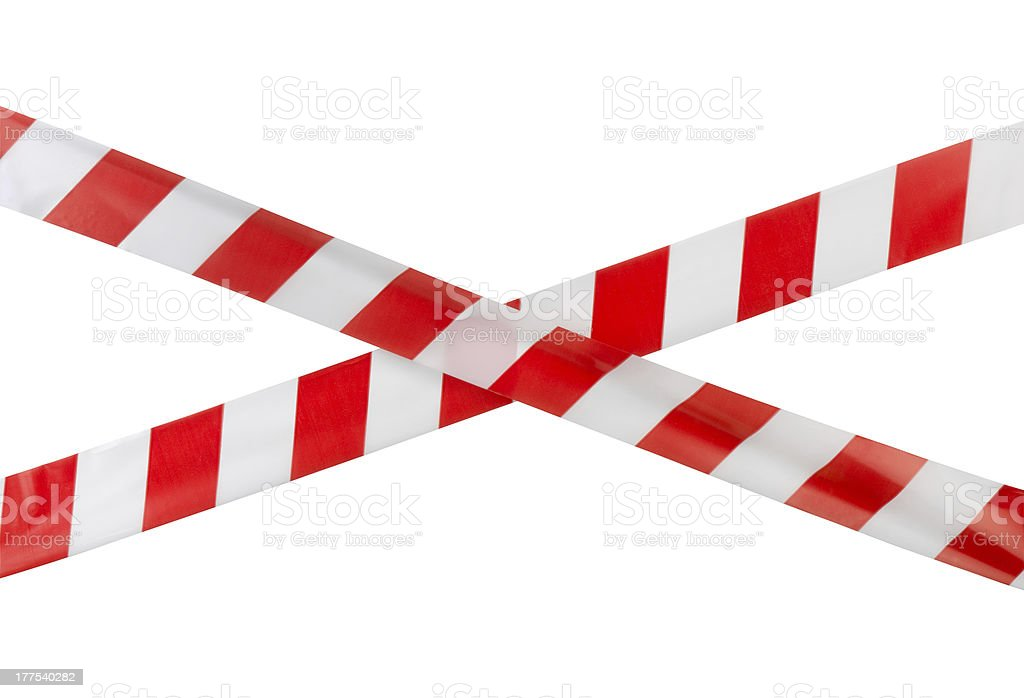 Warning tape stock photo