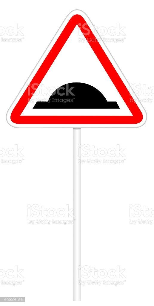 Warning traffic sign - Bumps Road stock photo