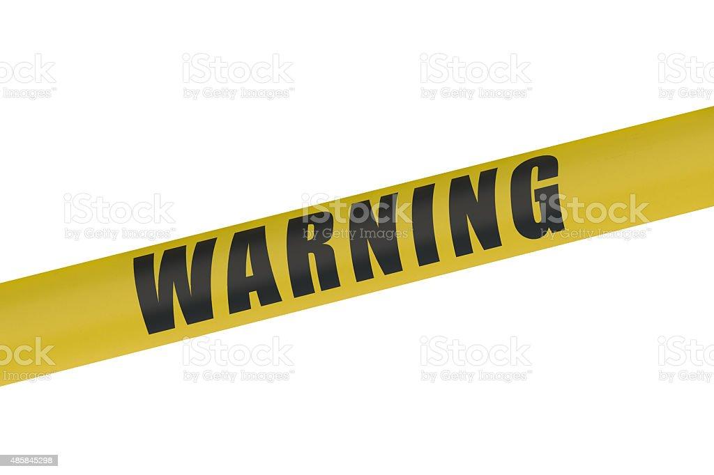 Warning Yellow Tape stock photo