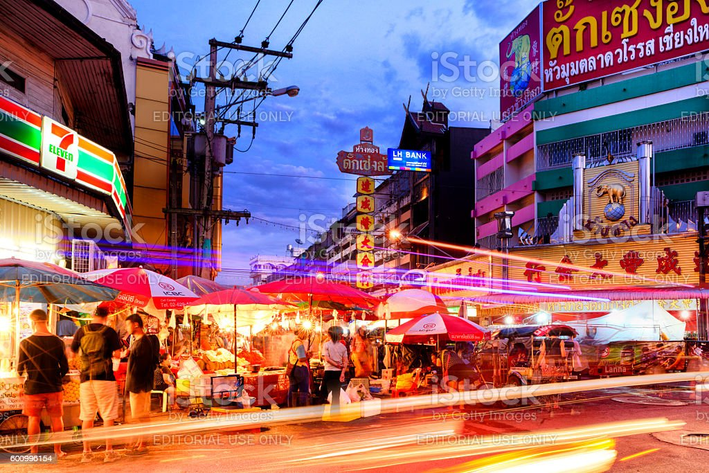 Warorot night market stock photo