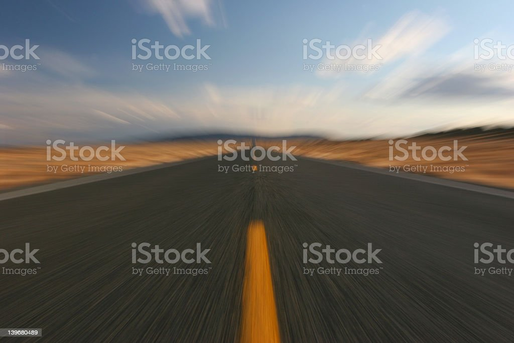 warped highway royalty-free stock photo