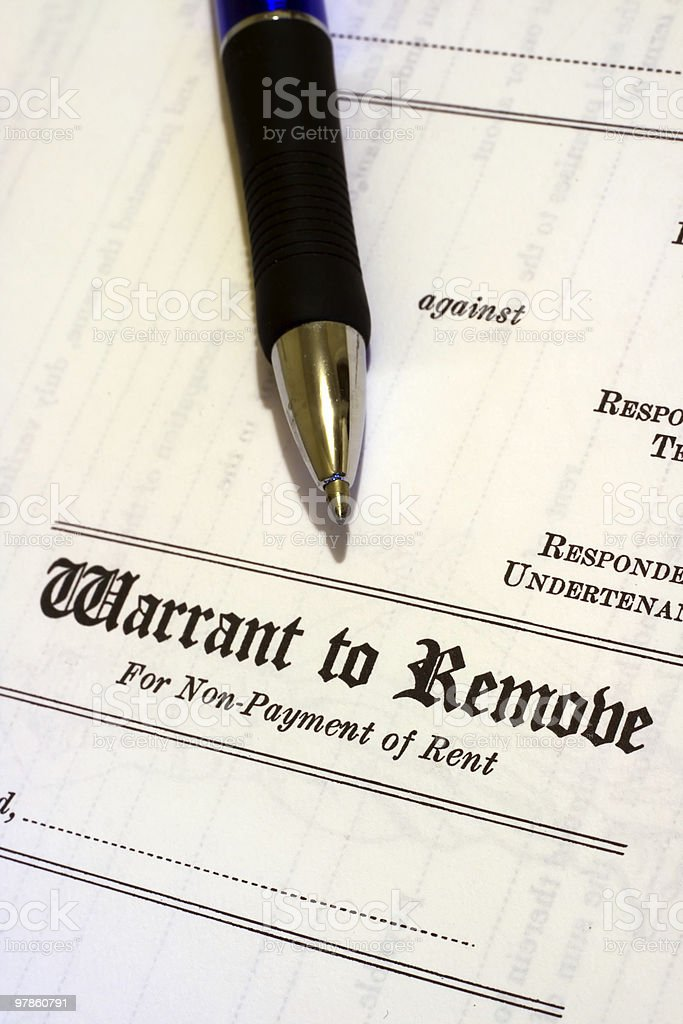 Warrant to remove stock photo