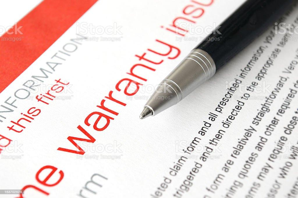Warranty insurance royalty-free stock photo