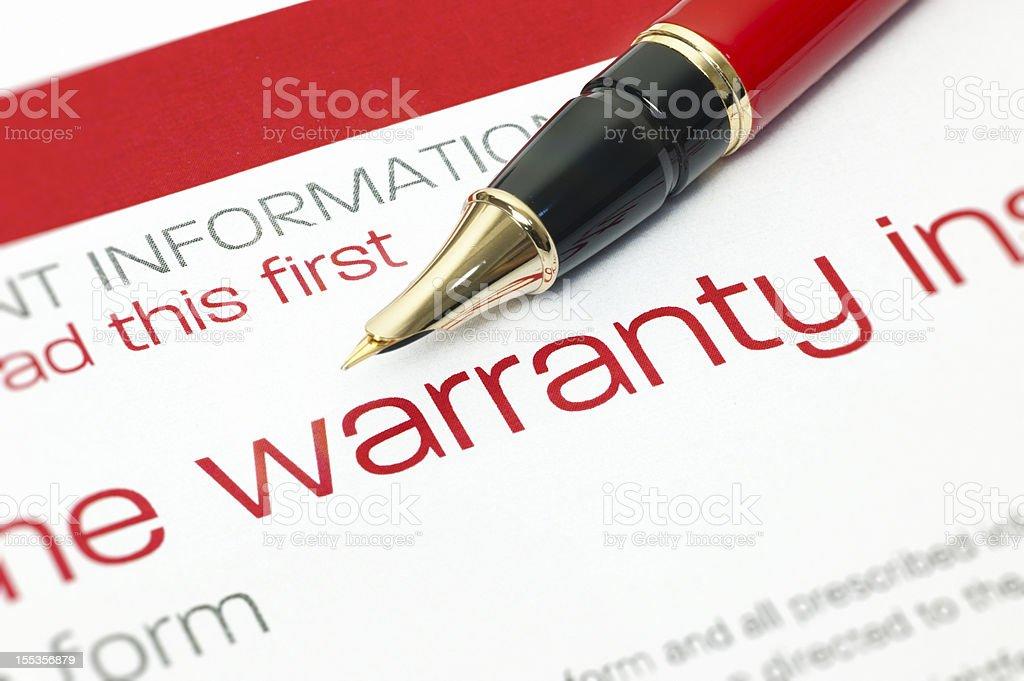 Warranty stock photo