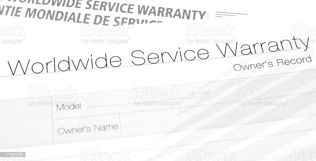 warranty royalty-free stock photo