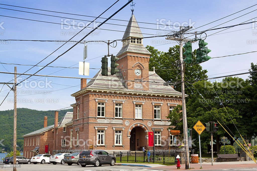 Warren County Court House, Lake George Village, NY. stock photo