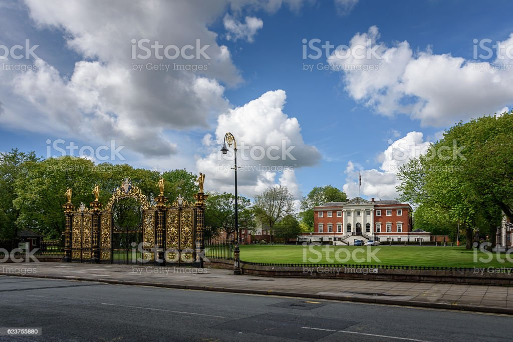 Warrington Town Hall (England) stock photo