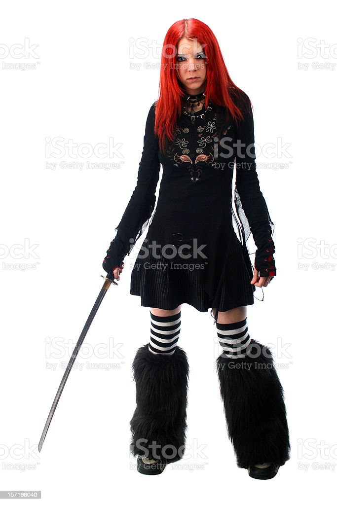 Warrior girl royalty-free stock photo