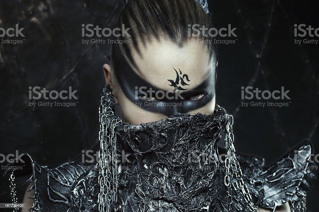 Warrior girl stock photo