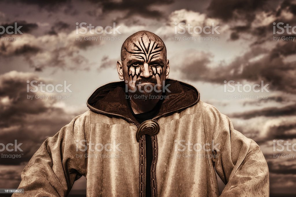 Warrior King stock photo