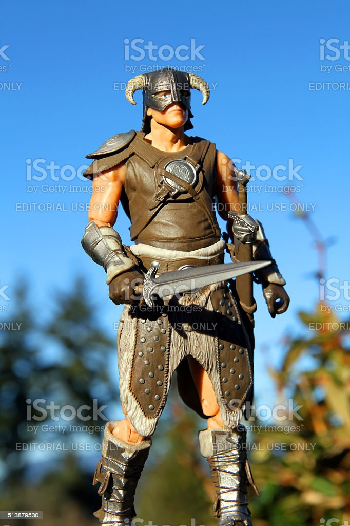 Warrior of Skyrim stock photo