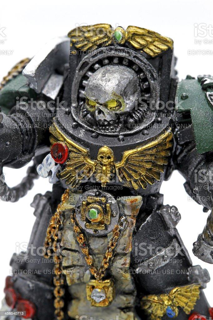 Warrior on White stock photo