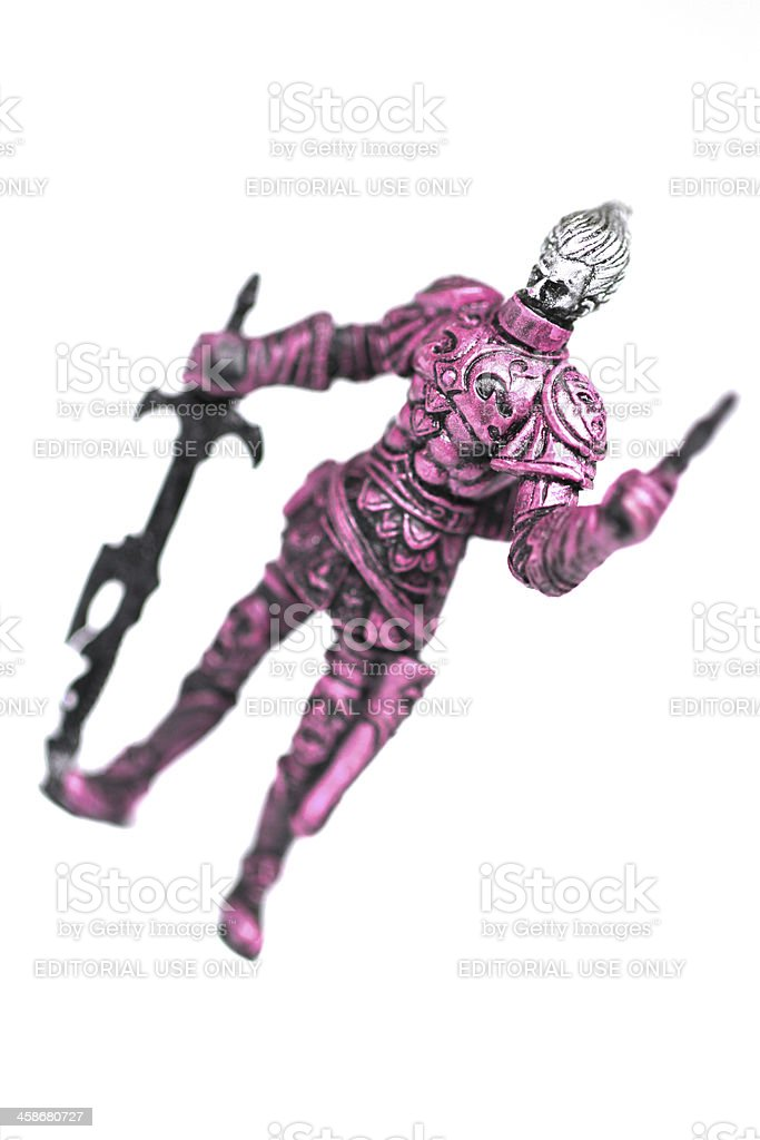 Warrior on White stock photo