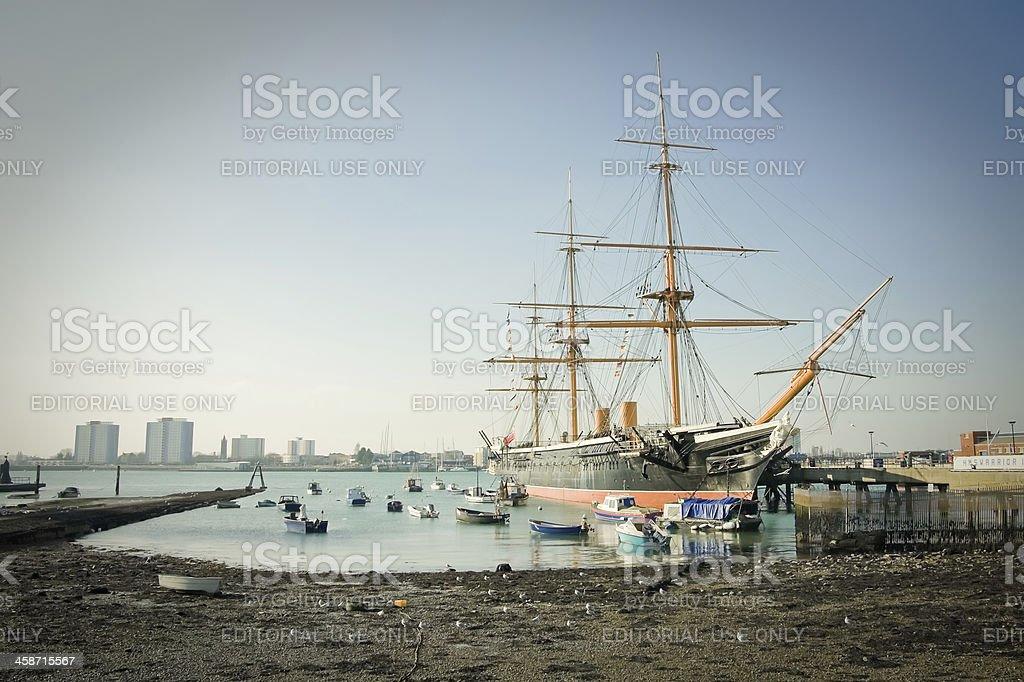 HMS Warrior stock photo