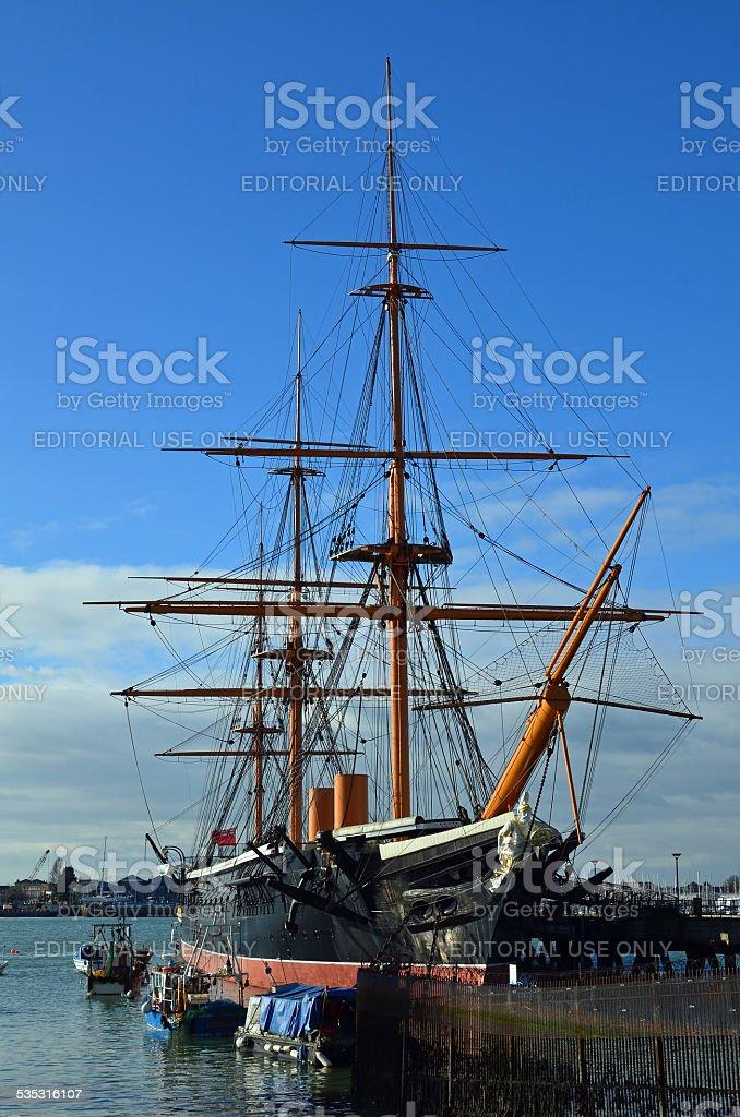 HMS Warrior. stock photo