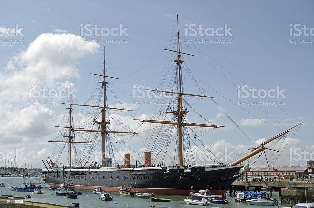 HMS Warrior, Portsmouth stock photo