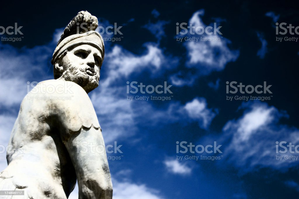 Warrior sculpture royalty-free stock photo