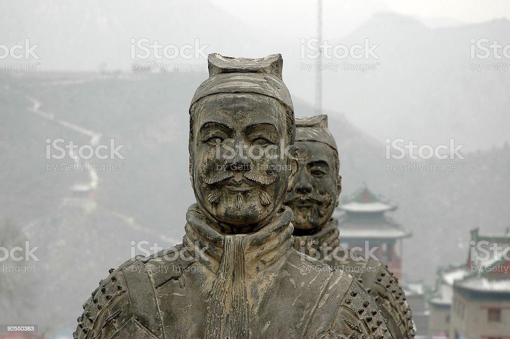 Warrior statue stock photo