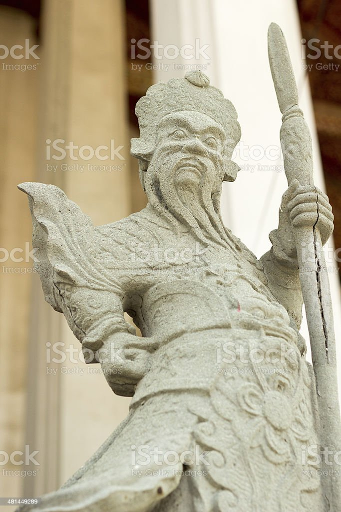 Warrior statues royalty-free stock photo