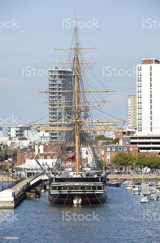 HMS Warrior Tall ship, Portsmouth stock photo