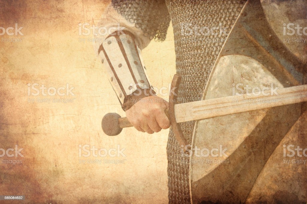 warrior with sword stock photo