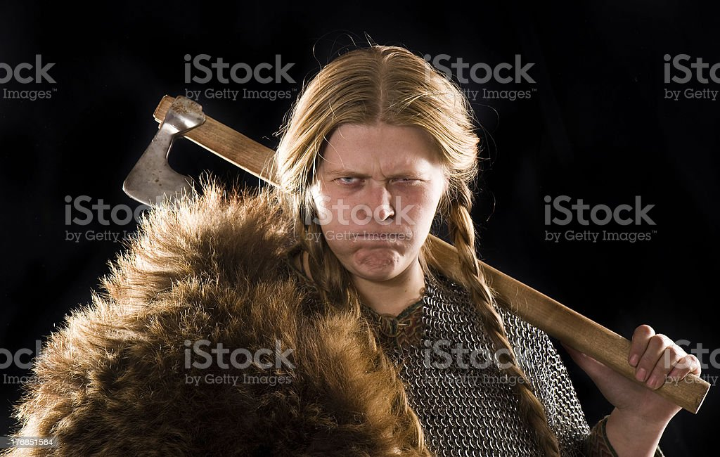 Warrior woman royalty-free stock photo