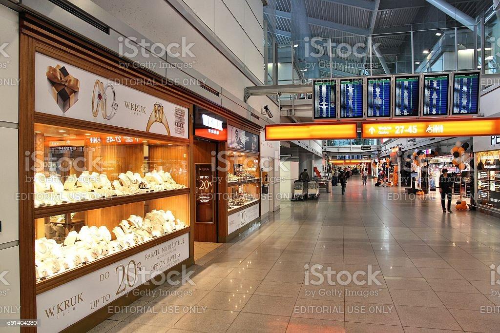 Warsaw Airport stock photo