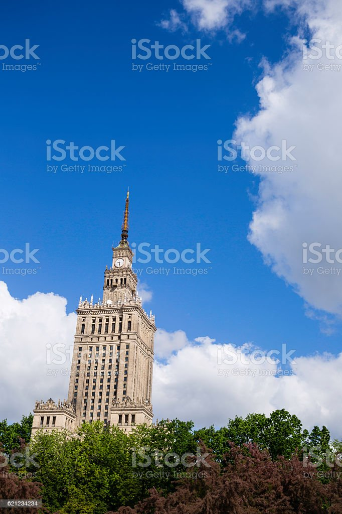Warsaw centre stock photo