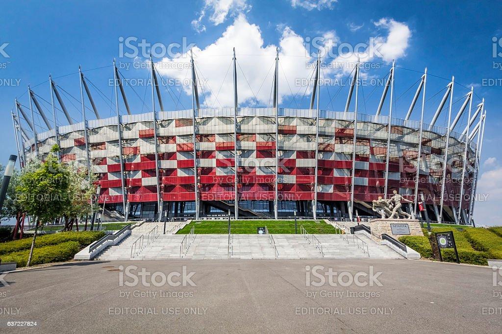 Warsaw National Stadium stock photo