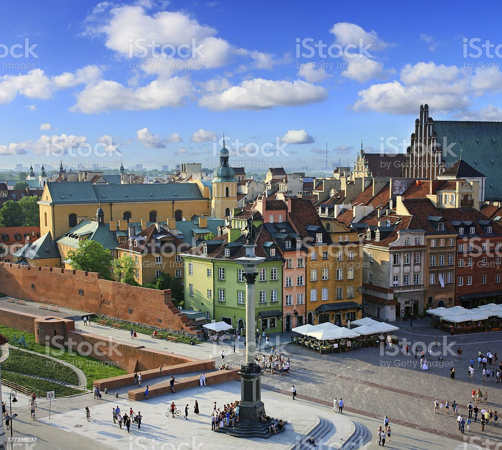Warsaw old city stock photo