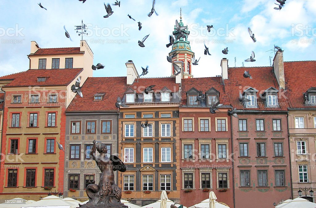 Warsaw Old Town royalty-free stock photo