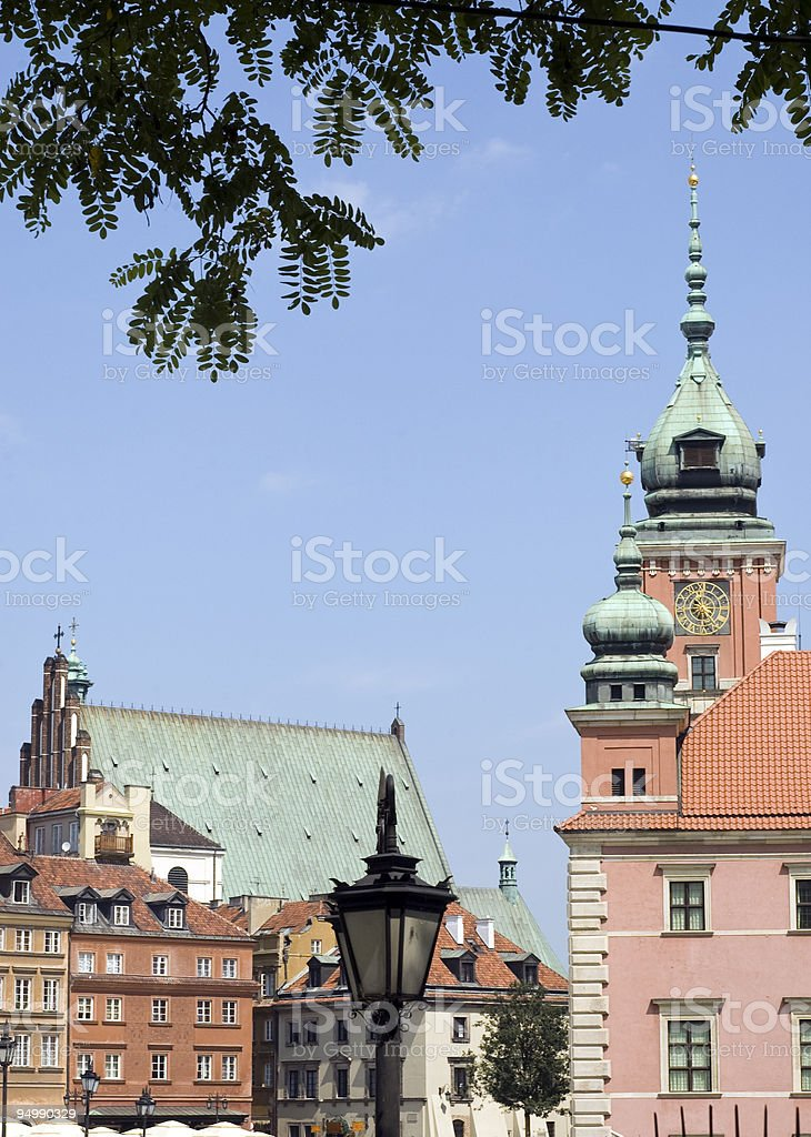 Warsaw old town stock photo