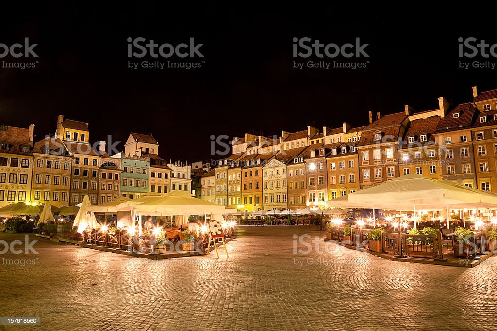 Warsaw, old town square royalty-free stock photo