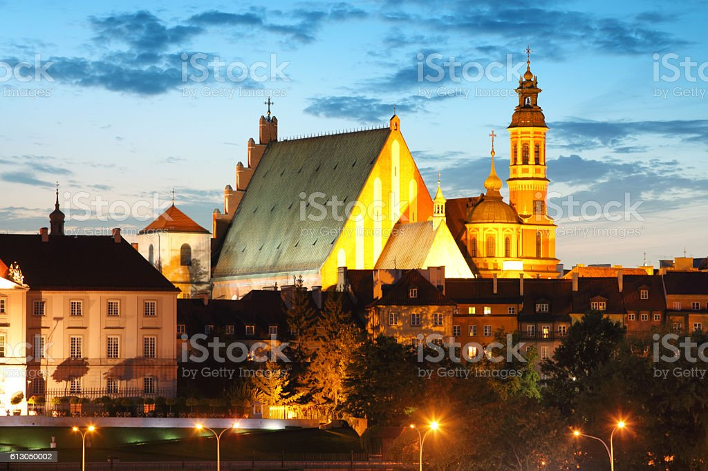 Warsaw Old Town, St. John's Cathedral, Warsaw stock photo