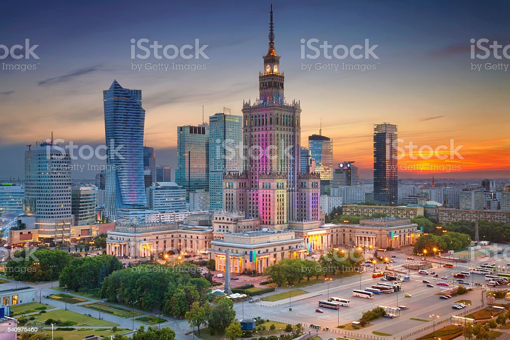 Warsaw. stock photo