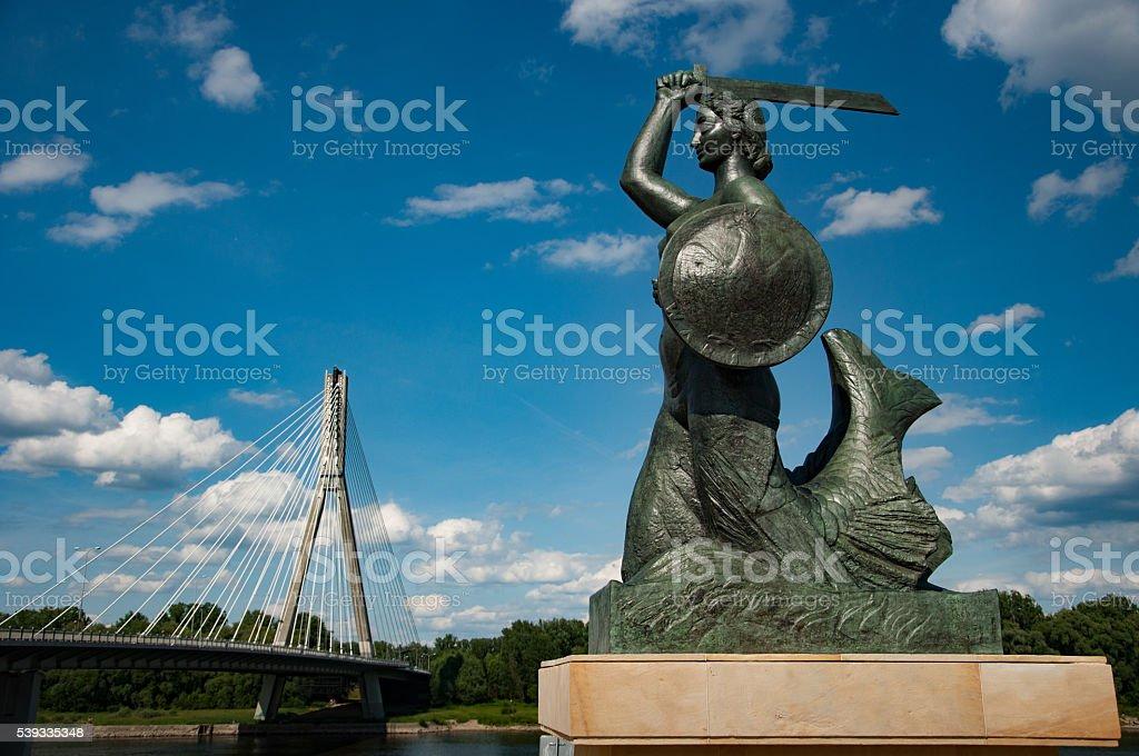 Warsaw Sirene Monument stock photo