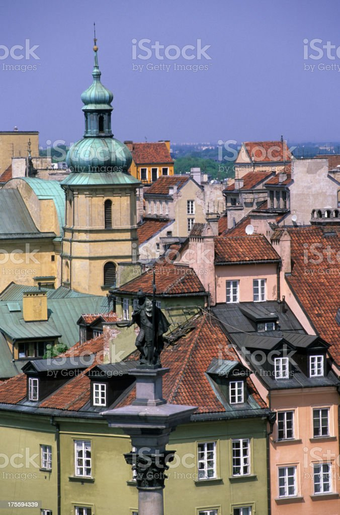 Warsaw - View of the old town royalty-free stock photo