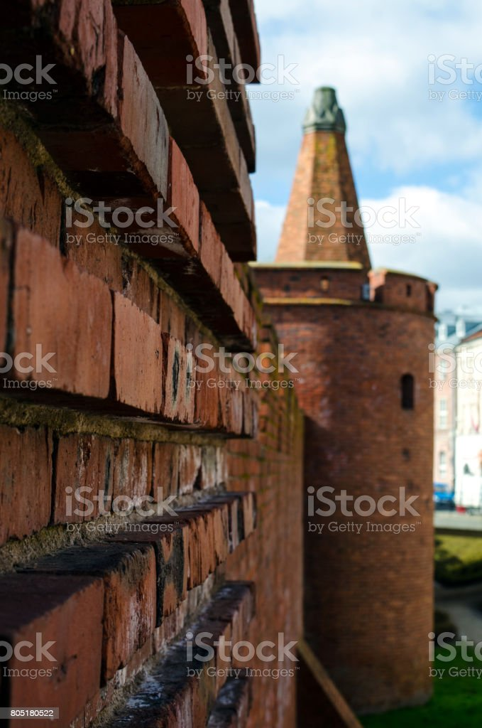 Warsaw Wall (vertical) stock photo