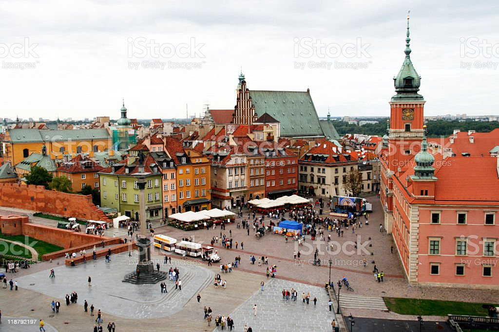 Warsaw's old town stock photo