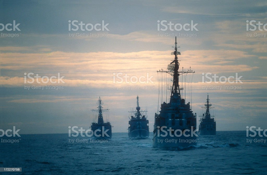 Warships stock photo