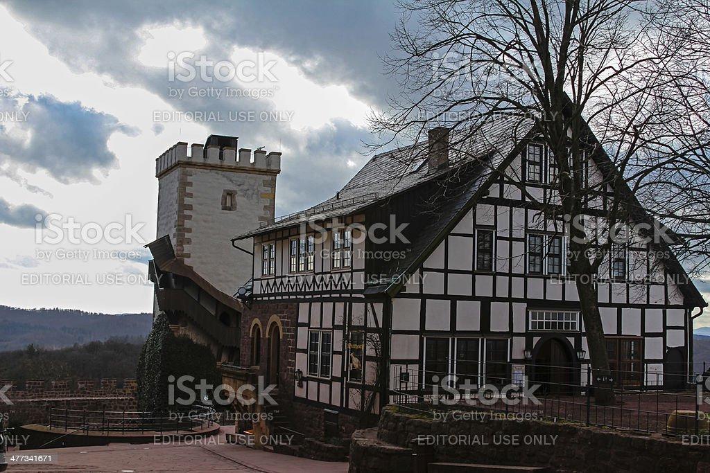 Wartburg Castle stock photo