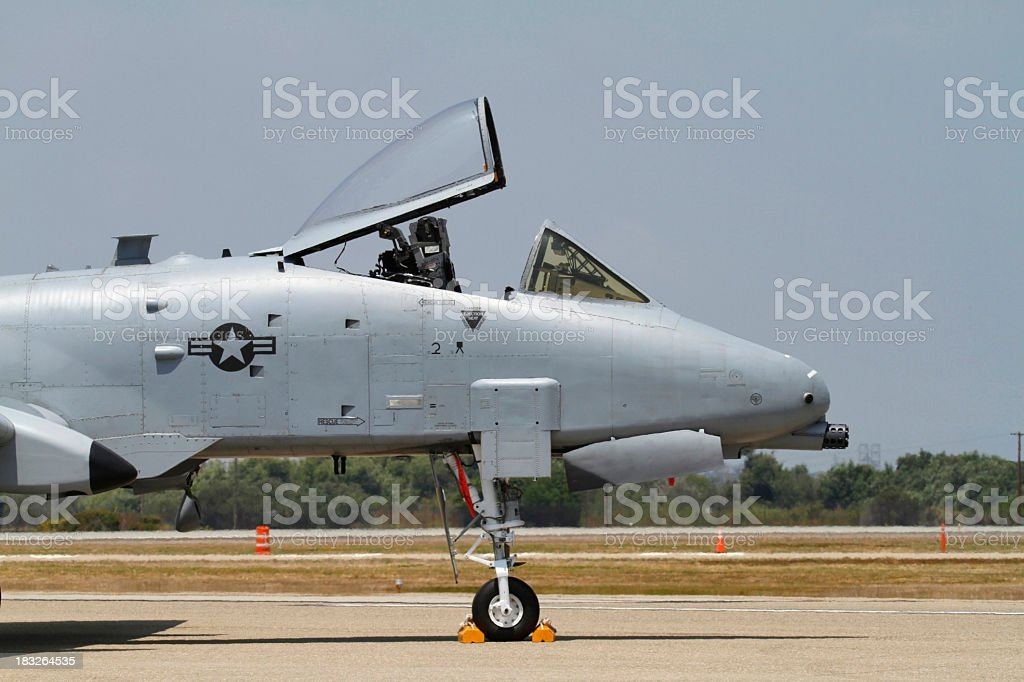 A-10 Warthog cockpit profile stock photo