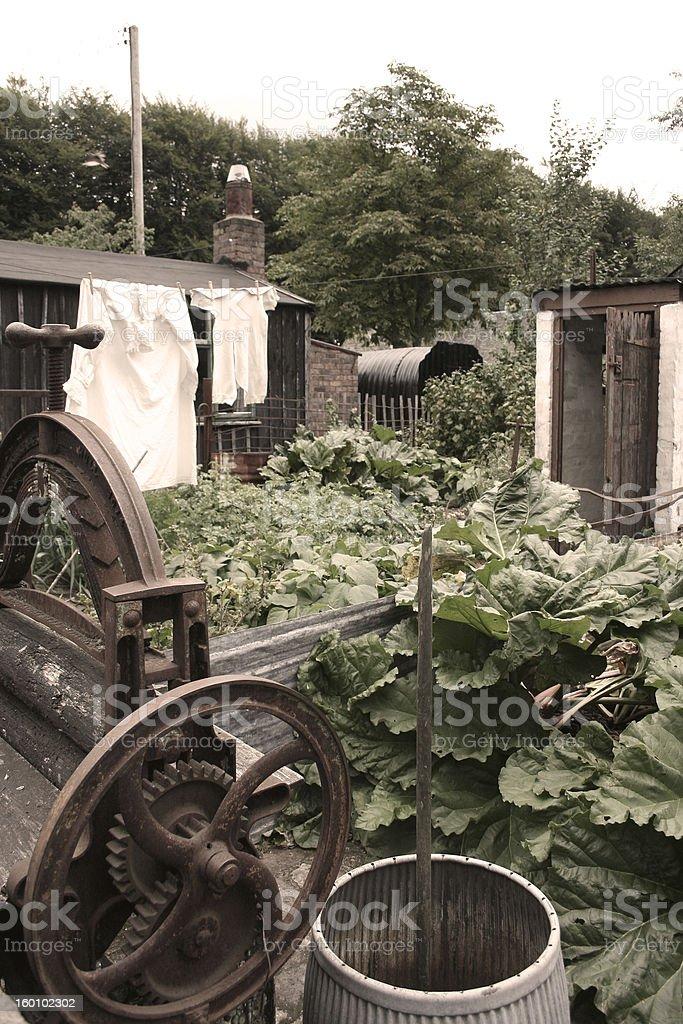 War-time 1940 garden stock photo