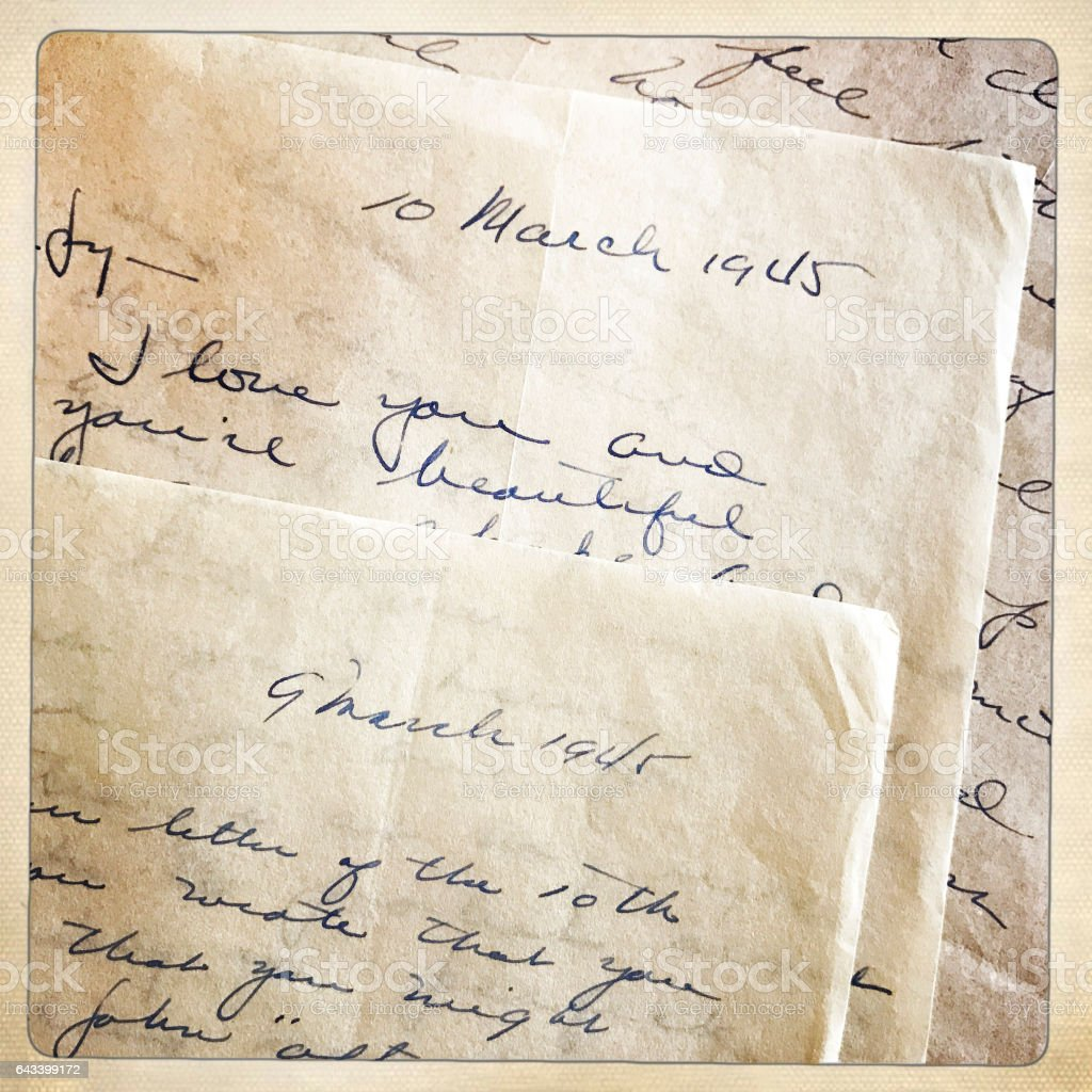 Wartime Love Letters stock photo