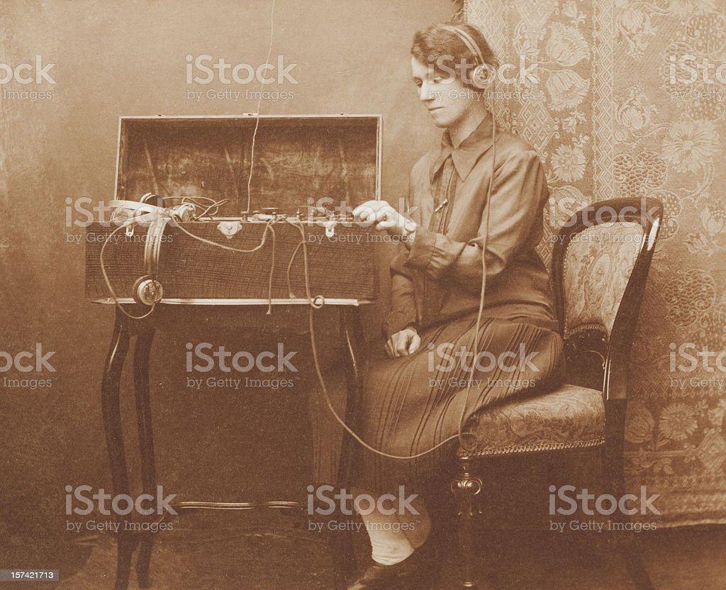 Wartime Morse Code Communications stock photo